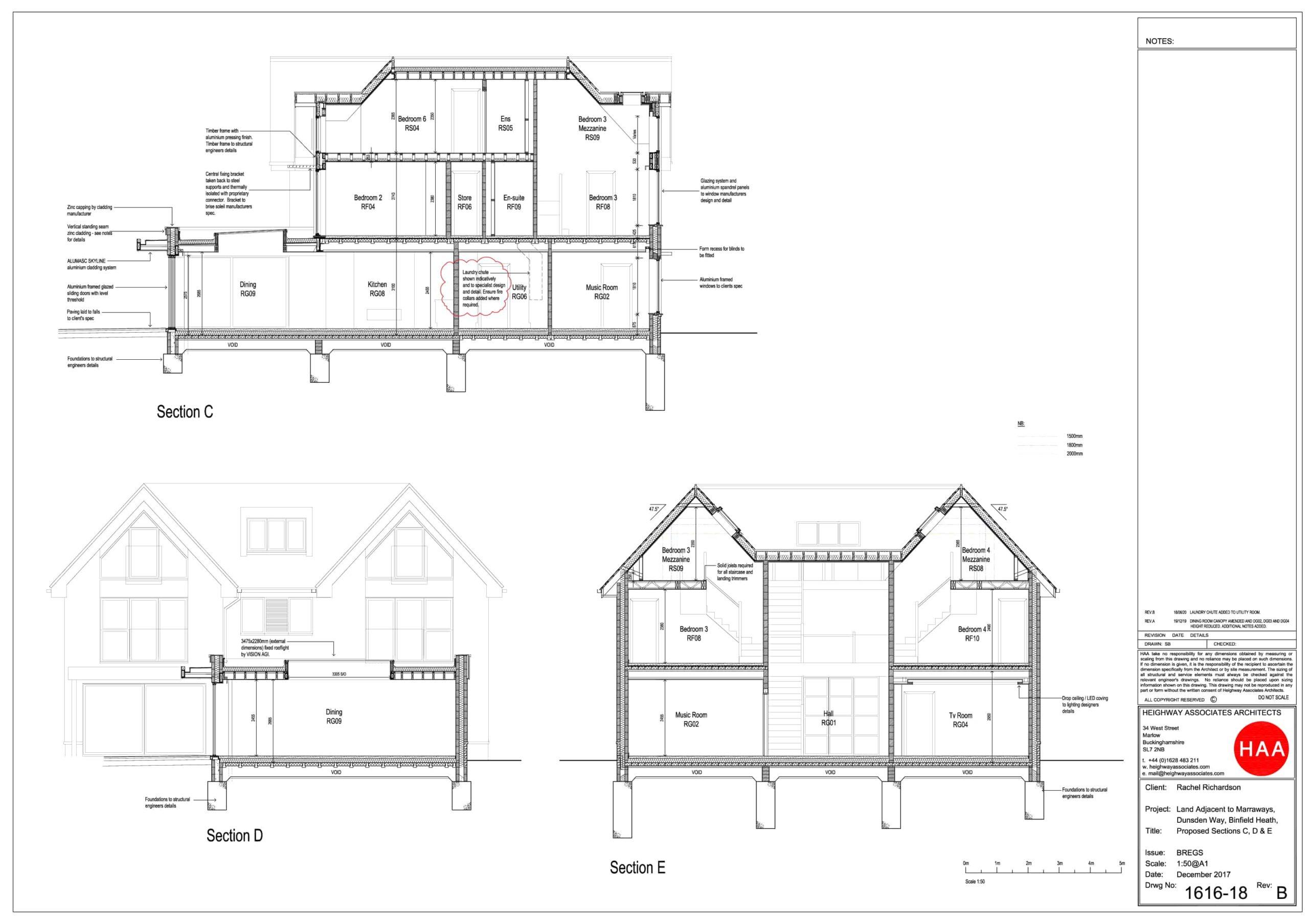 1616-18REVB Binfield Heath Section Drawing 2